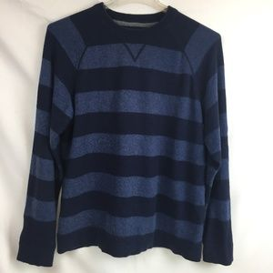 LL Bean L Cotton/Cashmere striped sweater